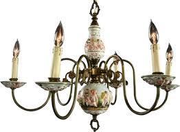 Delft Chandelier Vintage Capodimonte Chandelier Italian Chandelier Lighting