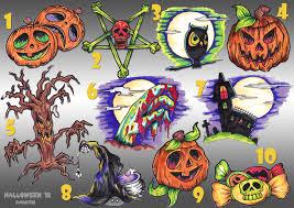 halloween stunning halloween tattoo flash image inspirations