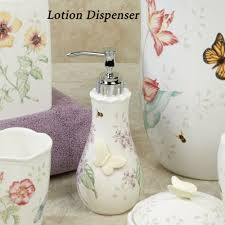 lenox butterfly meadow porcelain bath accessories