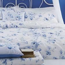 Curtain And Duvet Sets Blue U0026 White Floral Or Spot Bedding Bed Linen Duvet Cover