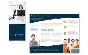 tri fold business brochure template blue trifold business flyer