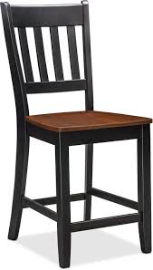 Counter Height Table And Chairs Set Nantucket Counter Height Table And 4 Slat Back Chairs Black And