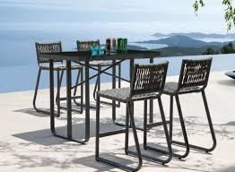 Outdoor Bistro Table Bar Height Bar Stand Up Bar Furniture Outdoor Bar On Wheels Pub Style Patio