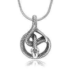 sterling silver snake necklace images 925 sterling silver detailed coil cobra snake animal jpg