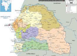 africa map senegal detailed political map of senegal ezilon maps