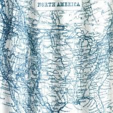 Shower Curtain Vinyl - vintage map eva vinyl shower curtain curtainshop com