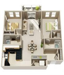 appartement avec 2 chambres 50 plans 3d d appartement avec 2 chambres appartements plans et