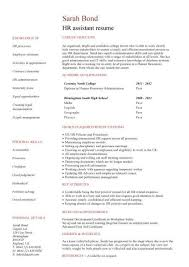 hr resume templates student entry level hr assistant resume template