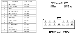 honda radio wiring diagram honda wiring diagrams instruction