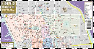 Map Of Lower East Side New York by Streetwise Greenwich Village Map Laminated City Street Map Of