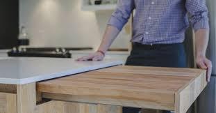 table amovible cuisine plan de travail pliable cuisine 4x 710mm rglable pliable