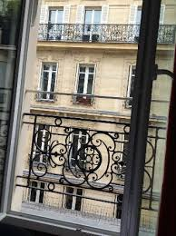 wrought iron balcony railing and great soundproof windows that you