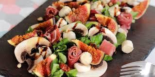 cuisine bayonne salade figue et jambon de bayonne recette sur cuisine actuelle