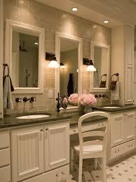 Polished Nickel Vanity Mirror Bathroom Vanity Mirror With Light Bulbs Around It With Crystal