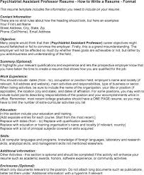 Psychiatrist Resume Resume Sles For Professors 28 Images International Professor