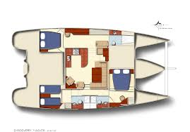 luxury yacht floor plans catamaran 3 cabin layout discovery yachts