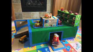 cardboard garage and car wash for kids diy craft kids