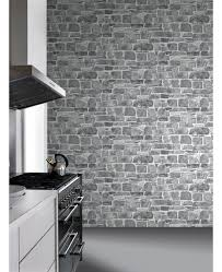 this fantastically realistic stone wall wallpaper features a
