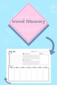 a5 cruise planner travel agenda cruise itinerary template