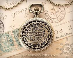 vintage watch chain necklace images Two little owls pocket watch pendant necklace pocket watch pendant jpg