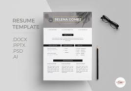 modern 1 page resume template resume templates creative market