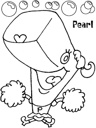 pearl spongebob coloring sheet coloring pages