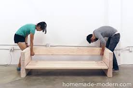 Build Wooden Patio Furniture by Homemade Modern Diy Ep70 Outdoor Sofa Step 7 Ydi Pinterest