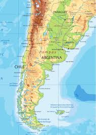 chile physical map south america detailed physical map by cartarium graphicriver
