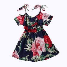 aliexpress com buy baby girls off shoulder skater dress kids