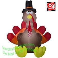 turkey inflatables gemmy airblown 8 1 2 thanksgiving turkey