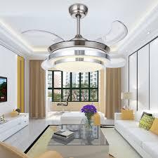 Children Bedroom Lighting 36 Inch Modern Led Invisible Ceiling Fans With Lights Children