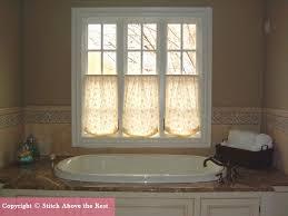 Half Window Curtains Custom Valances And Top Treatments Atlanta Georgia Stitch