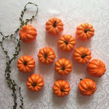 foam pumpkins 12pcs realistic fall mini artificial pumpkins foam pumpkins for