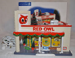 dept 56 halloween retired department 56 red owl grocery store the original snow village