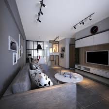 scandinavian interior design plays with grey color palette and
