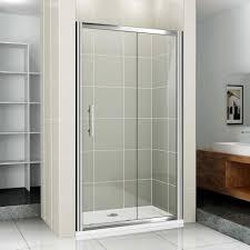 double shower in ceiling sliding glass shower doors brown ceramics