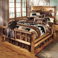 king hickory leather sofa rustic bedroom furniture log beds and hickory beds black forest