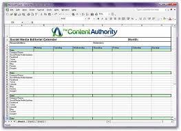 Editorial Calendar Template Excel Social Media Editorial Calendar Template The Content Authority