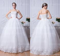 discount crystal strapless tulle wedding dresses with beads bodice