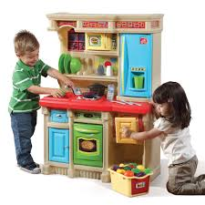 Pretend Kitchen Furniture by Lifestyle Custom Kitchen Brights Kids Play Kitchen Step2