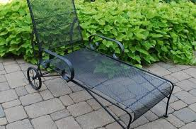 Wrought Iron Lounge Chair Patio Wrought Iron Chaise Lounge Patio Furniture Dogwood Outdoor