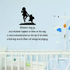 winnie the pooh and christopher robin wherever you go quote winnie the pooh and christopher robin wherever you go quote children s bedroom kids room playroom baby nursery wall sticker wall art vinyl wall decal wall