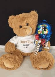 engraved teddy bears class of 2017 personalized teddy graduation
