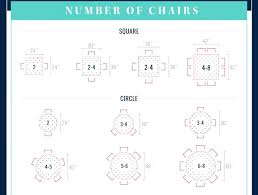 Dining Table Size For 4 Dining Table Chair Size Surprising Four Chair Dining Table Ideas