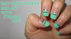 arcadianailart 3 striping tape nail art designs blue me away