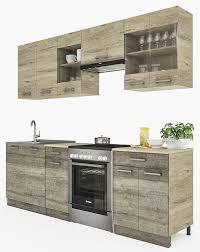 K Henzeile L Form G Stig Küchenzeile 240 Cm Günstig Online Kaufen Lionshome Komplett