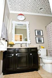 love this bathroom black cabinets dutch boy paint color stonewall