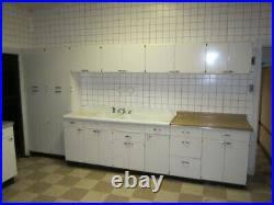 vintage metal kitchen cabinets set of 28 vintage mid century modern lyon metal kitchen