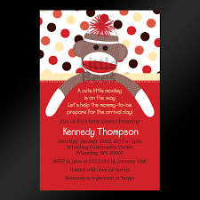 printable sock monkey baby shower invitations theruntime com