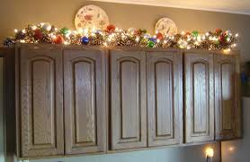 christmas decorations for kitchen cabinets how to decorate top of kitchen cabinets for christmas rapflava